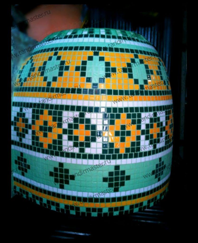 Узбекский тандыр с мозаикой
